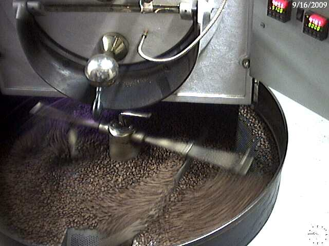 Probat L-12 coffee roaster.